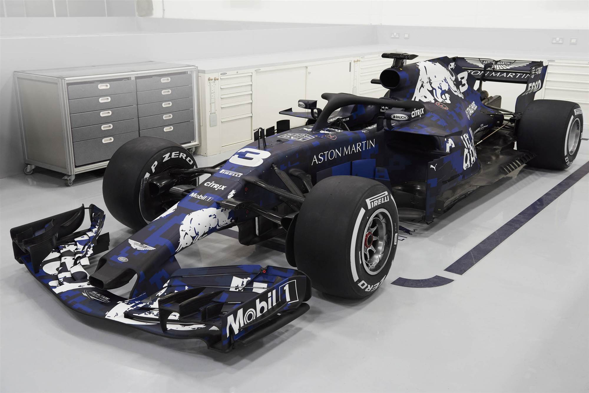 New Red Bull F1 car breaks cover