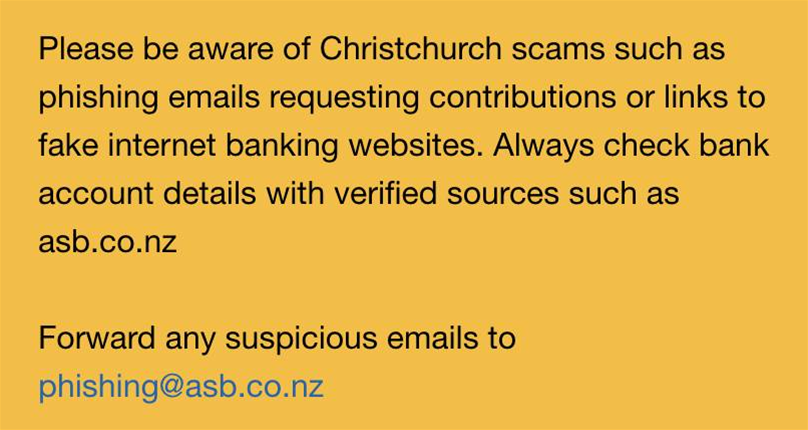 Heartless phishers prey on donation efforts after Christchurch terrorist attack