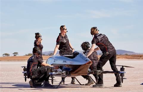 Telstra Purple to help launch flying EV race series