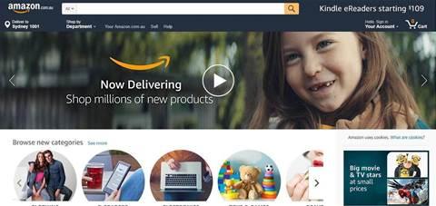 Amazon launches online store in Australia