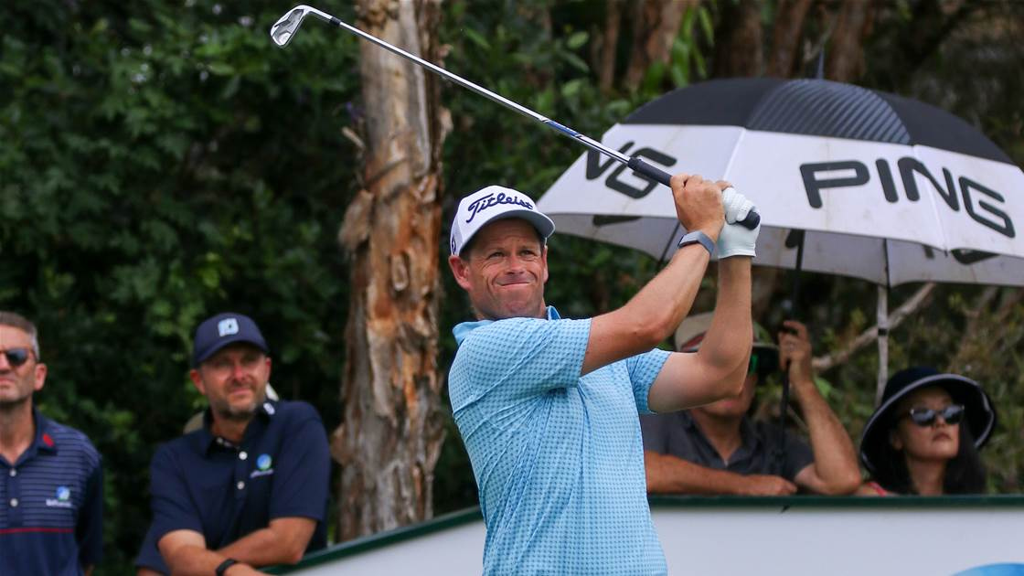 Man of the moment leads rain-interrupted Queensland Open