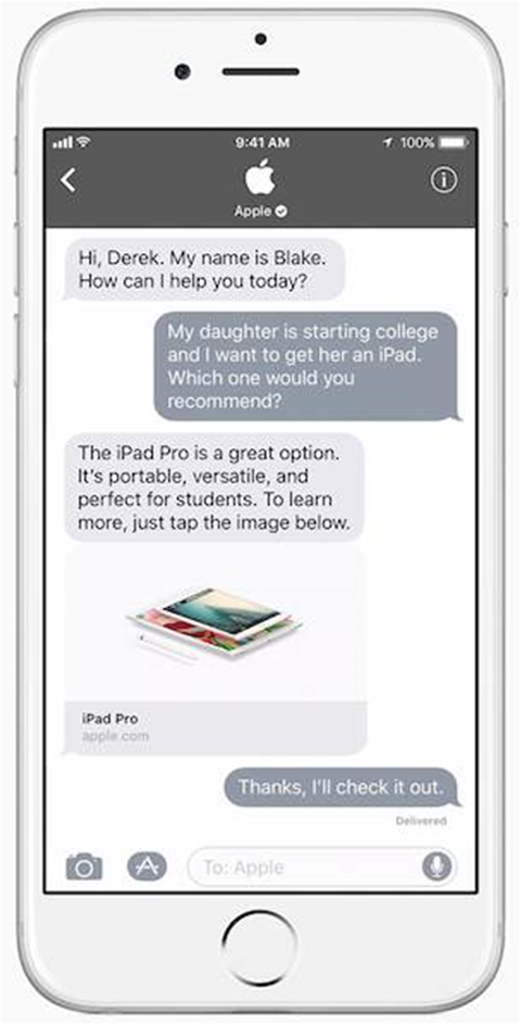 Apple Business Chat launches in Australia