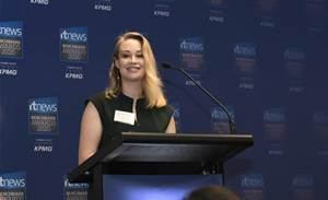 ANZ's Michelle Dobson named young leader of the year