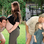 Bindi Irwin recreates her mum's bump photo