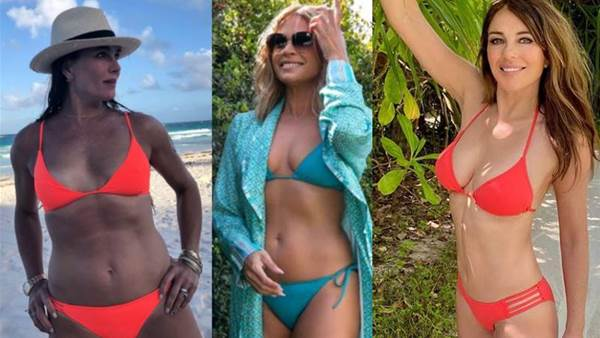 Fabulous at 55: celebs show off their bikini bodies