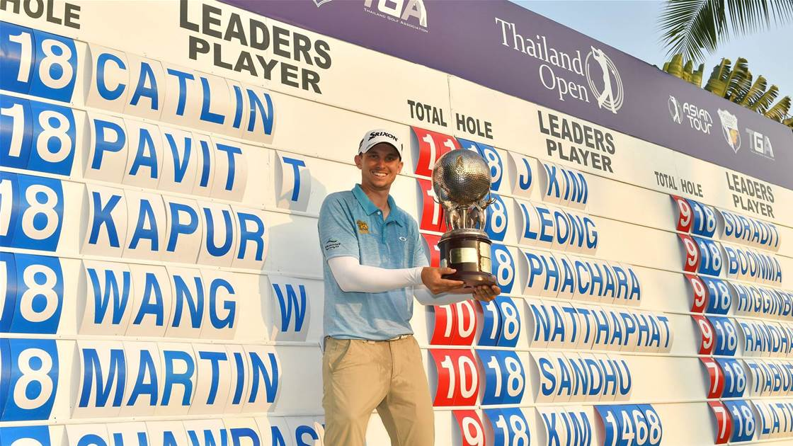 Courageous Catlin records playoff victory at Thailand Open