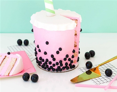 giant bubble tea cake