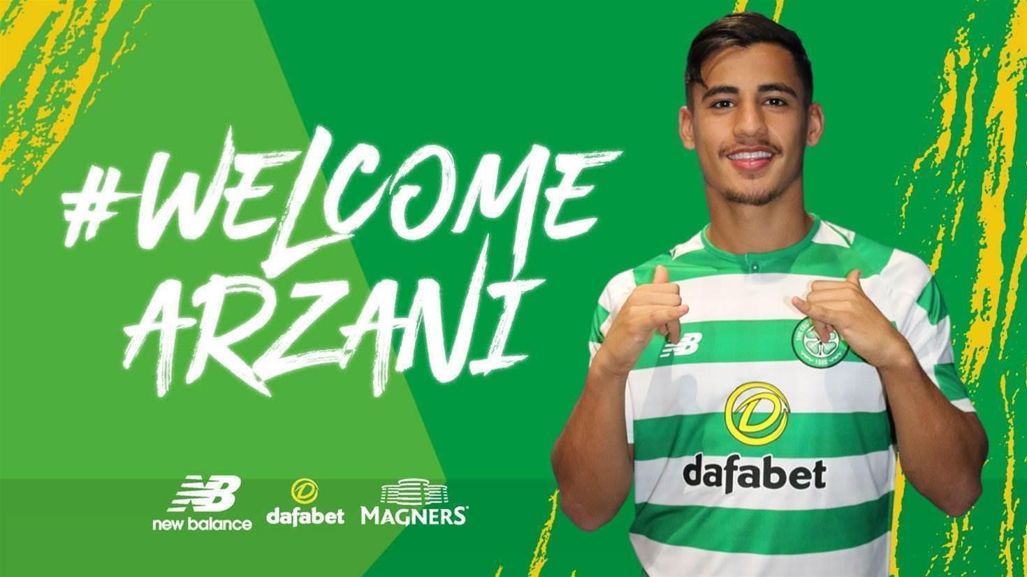 New Bhoy Arzani joins Celtic