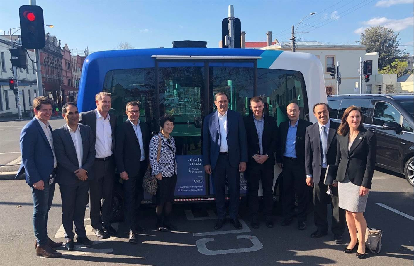Cisco CEO Chuck Robbins tours Vic IoT road trial