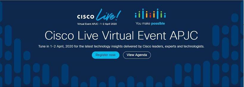 Cisco Live APJC will go ahead online next week