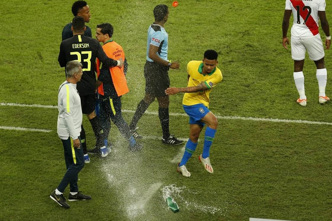 Watch: Gabriel Jesus meltdown in Copa America final