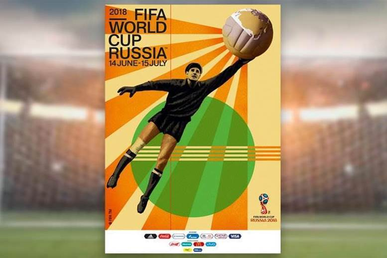 FIFA unveils Soviet-style 2018 World Cup poster