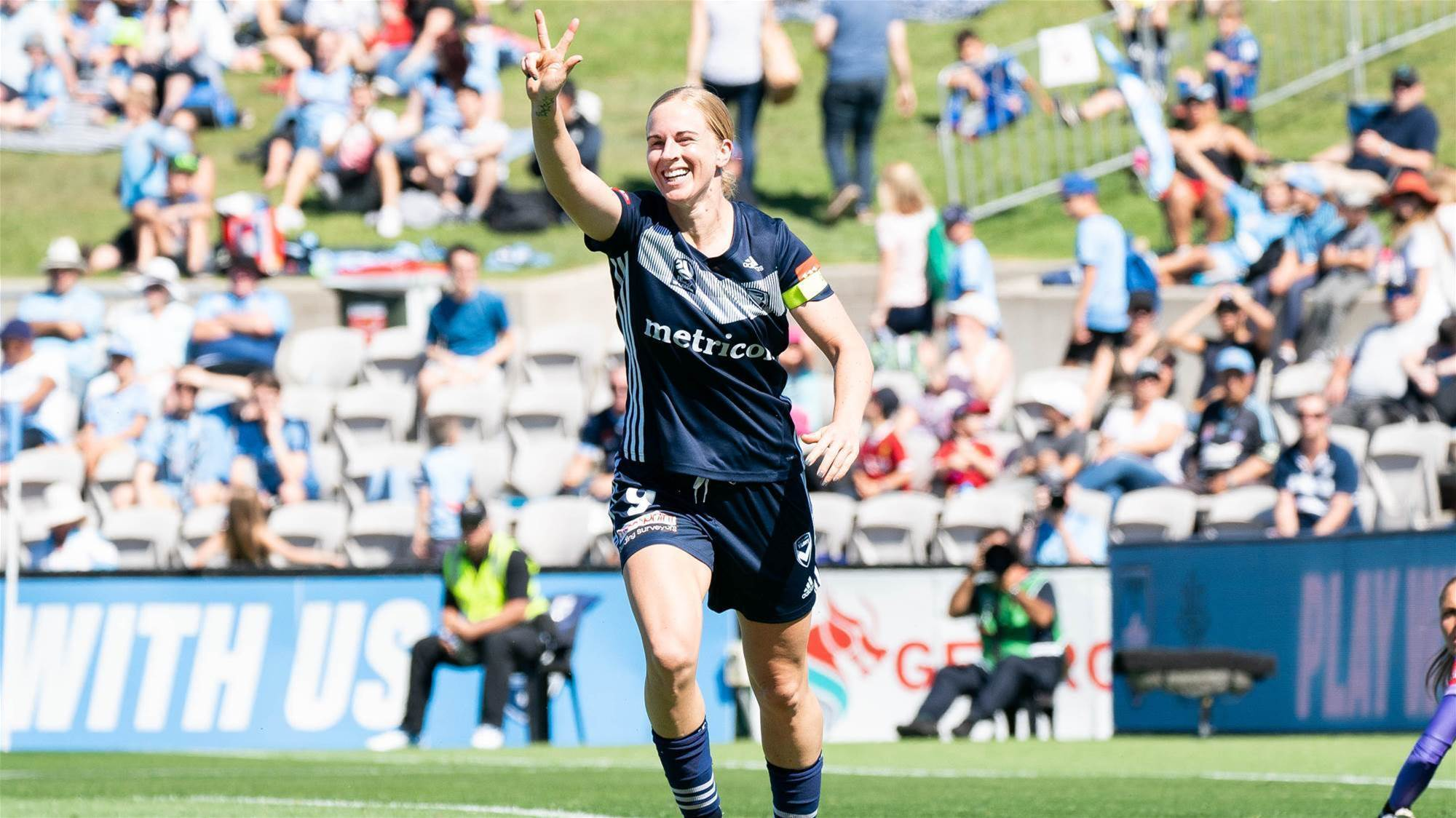 Dowie hat-trick sends Victory clear at the top