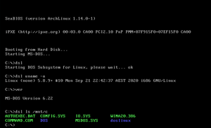 DOS Subsystem for Linux breaks cover