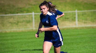 Victory sign Junior Matilda, rival City forward