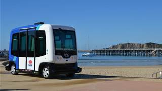 Driverless shuttle now taking passengers in Armidale CBD