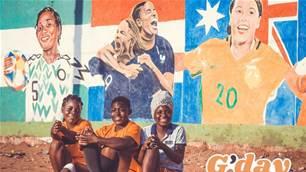Matildas' Sam Kerr given touching tribute in Nigeria