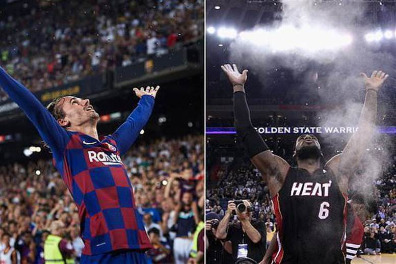 Watch! Griezmann channels LeBron James in glitter celebration