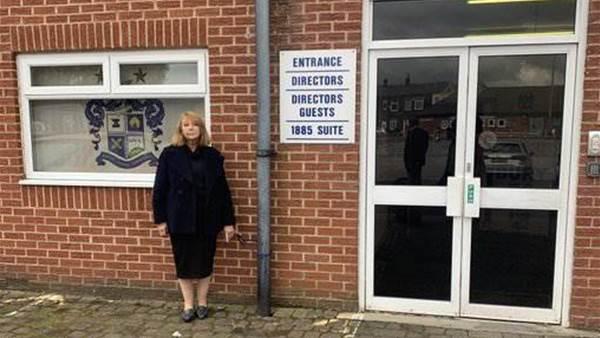 Former Bury FC director chains herself to stadium