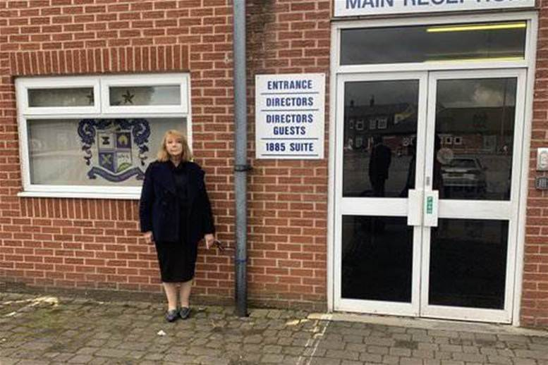 Former Bury FC director chains herself to stadium