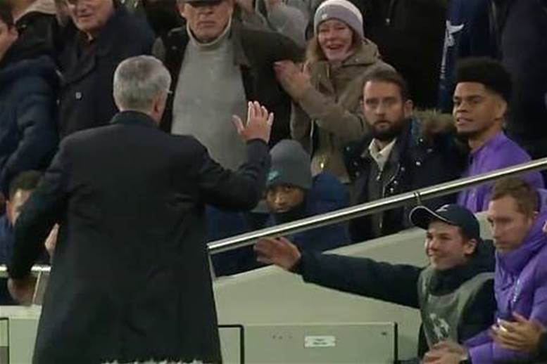 Watch! Mourinho celebrates ball-boy assist in Tottenham goal