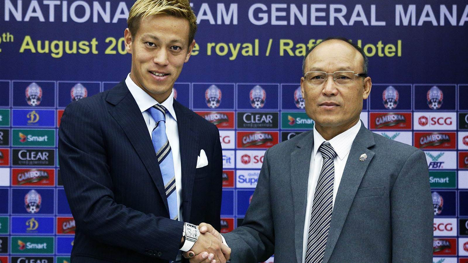 Melbourne Victory marquee Keisuke Honda takes charge of Cambodia