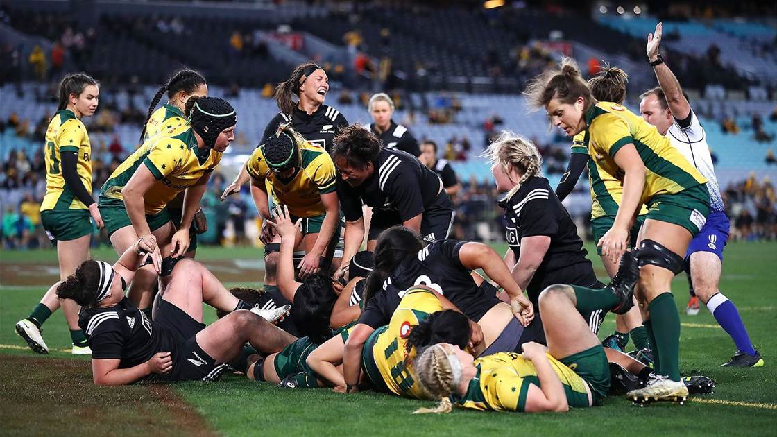 Black Ferns continue dominance over Wallaroos in historic test