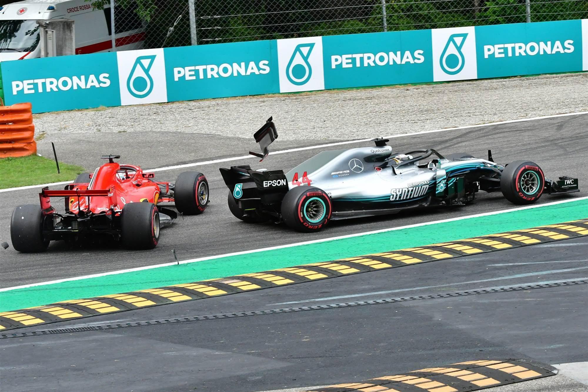 Hamilton downs dominant Ferraris at Monza
