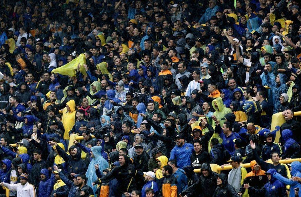 Watch! Boca fans turn out in numbers for postponed final