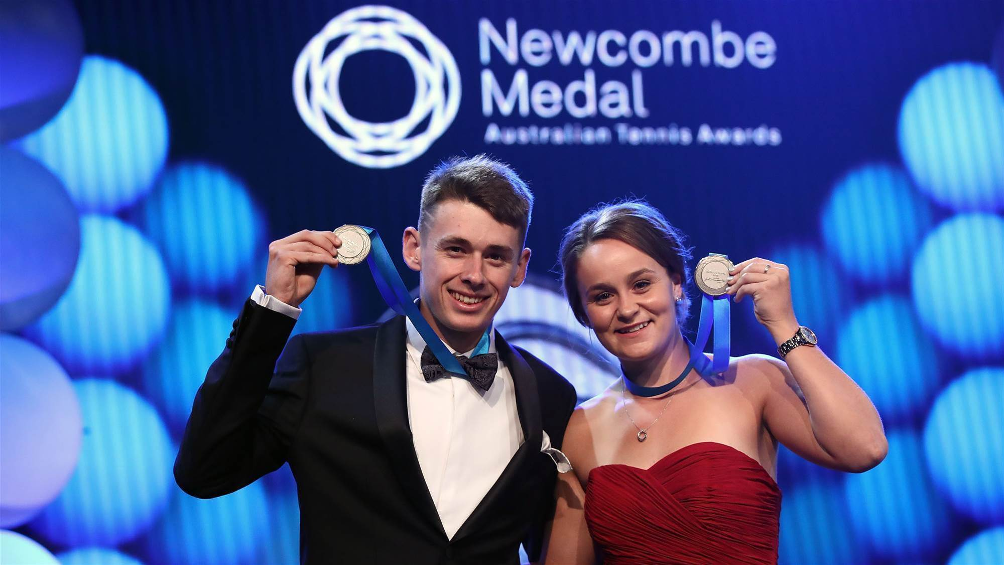 Barty named joint Newcombe Medal winner