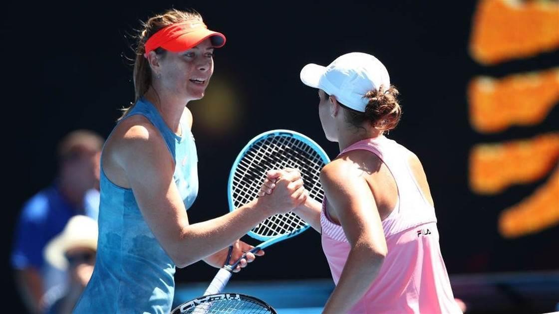 It's Barty v Sharapova in huge Cincinatti showdown