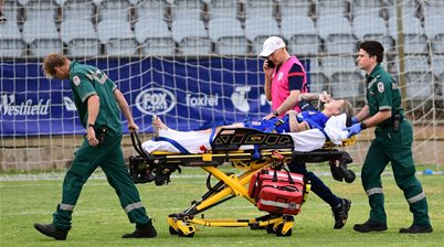 Crummer undergoes surgery for serious leg injury