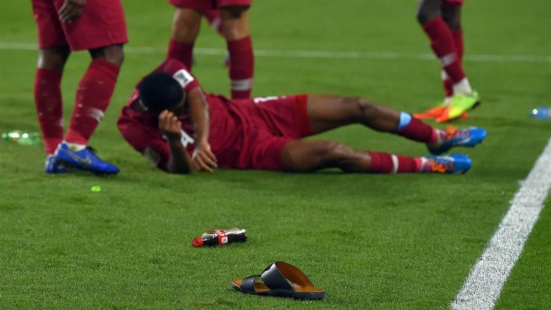 Ugly scenes as Qatar thrash UAE to reach Asian Cup final