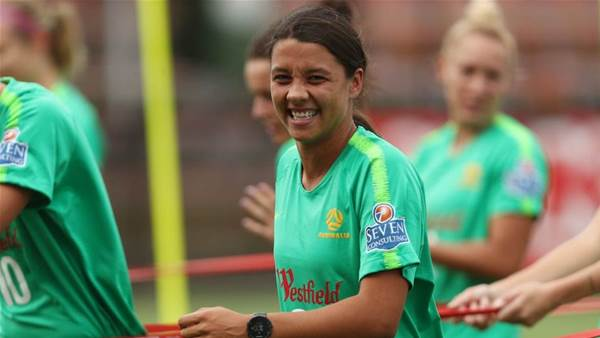 'She is in good spirits': Kerr doubts add depth test as Matildas opposition thicken
