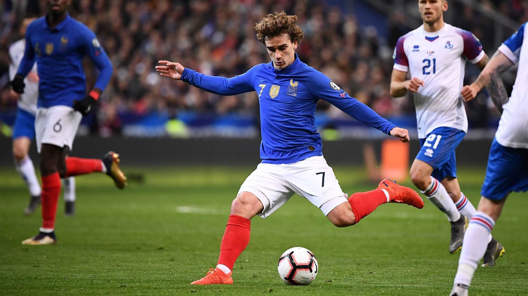 France mark 100 years with commemorative jersey and 4-0 win over Iceland