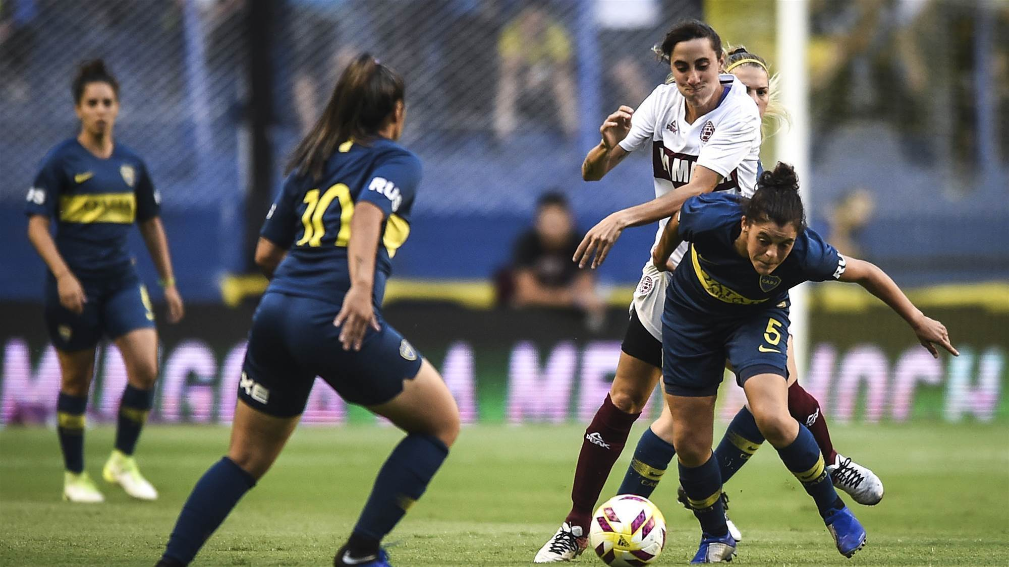 Women's football is professional in Argentina