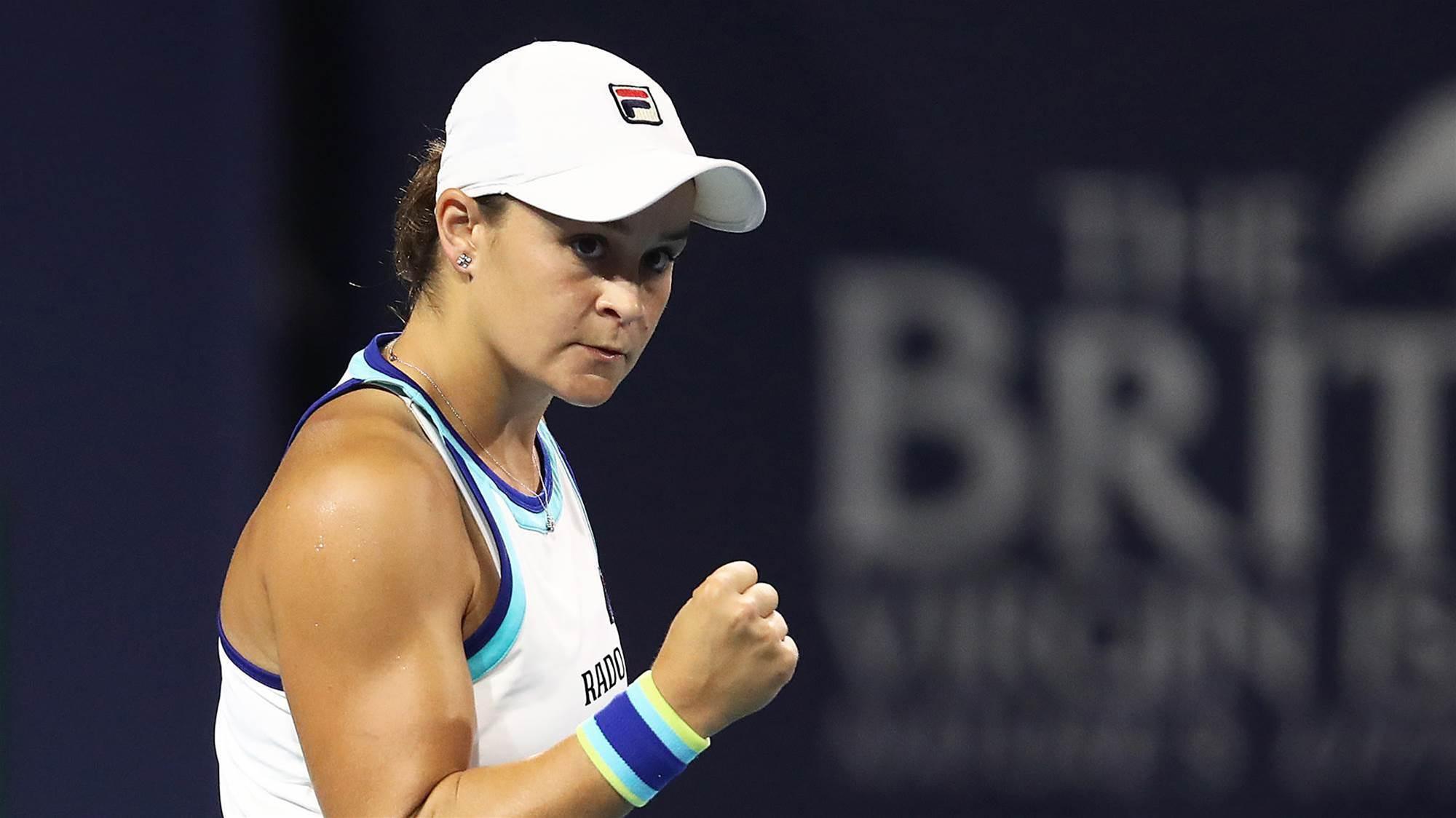 Barty to break into Top 10 after Kvitova win