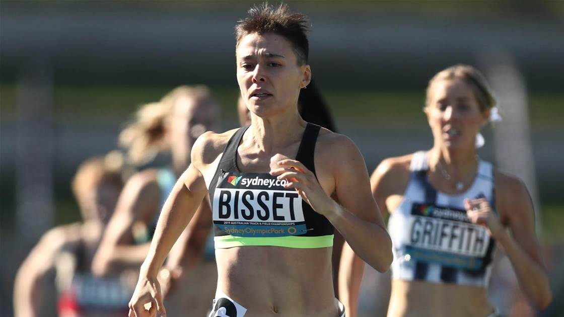 Bisset breaks sub-2 minutes barrier