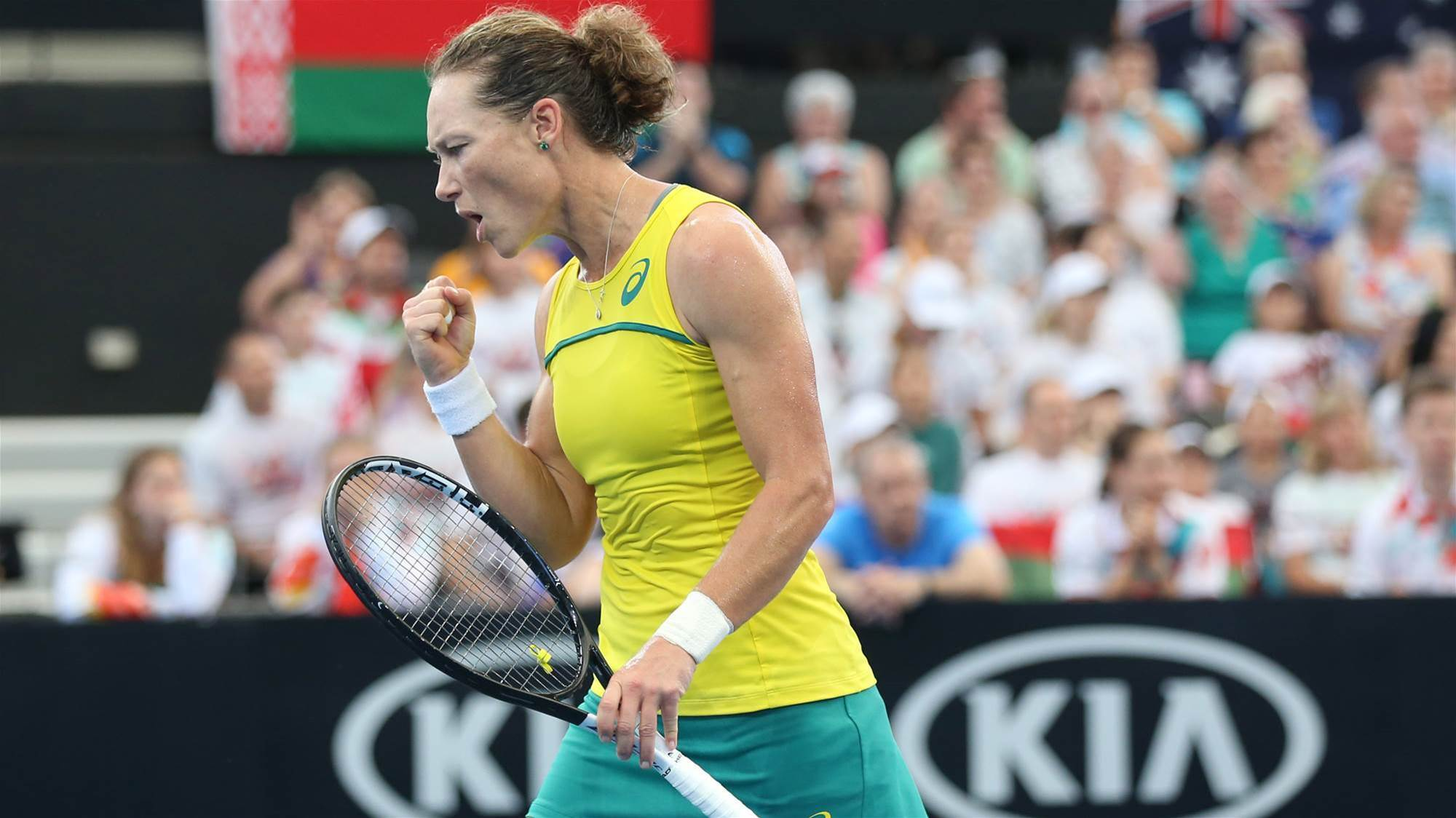 Stosur's never give up attitude