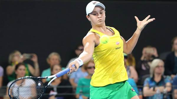 Barty levels Fed Cup tie