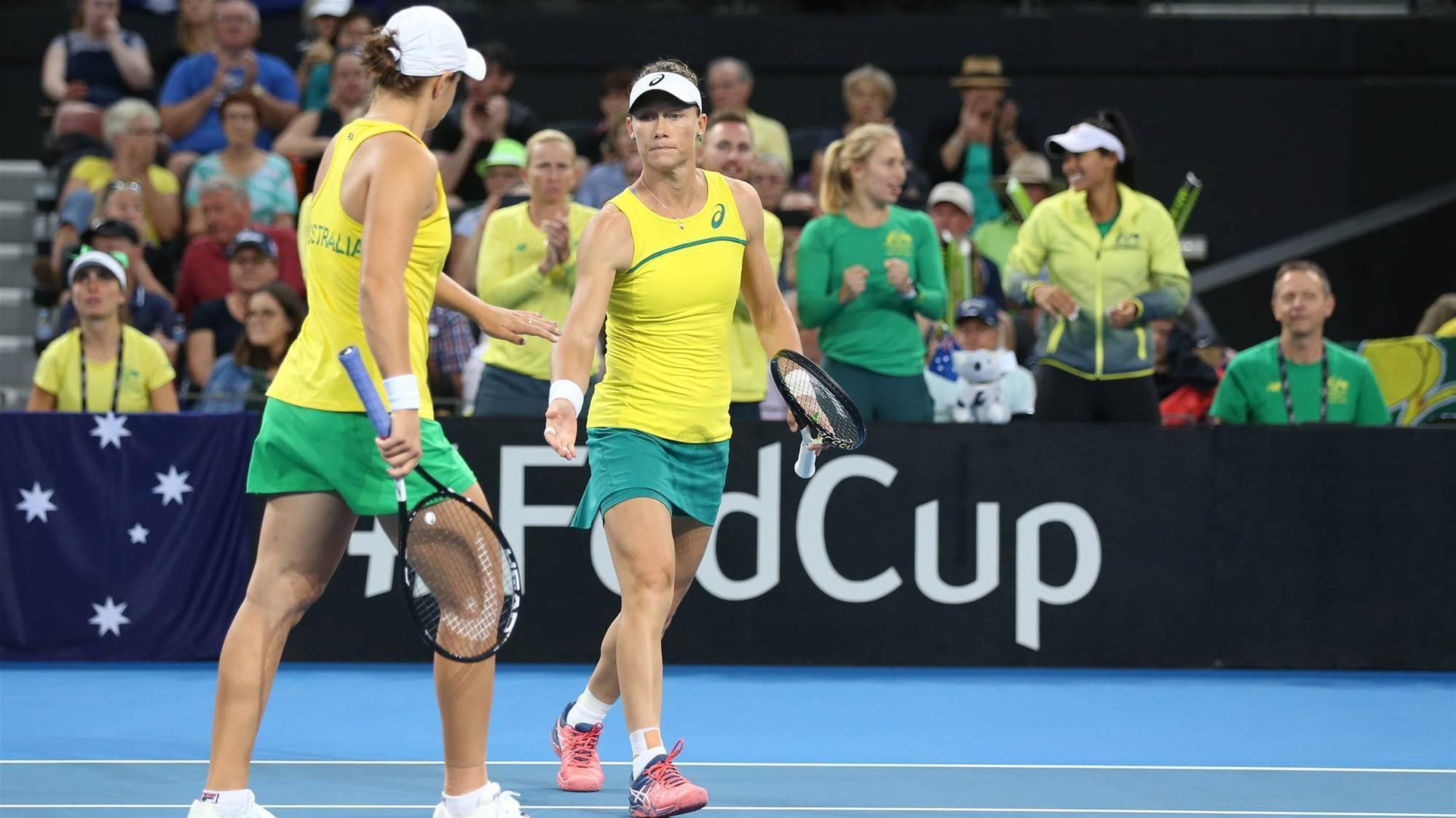 Australia break 26-year Fed Cup drought