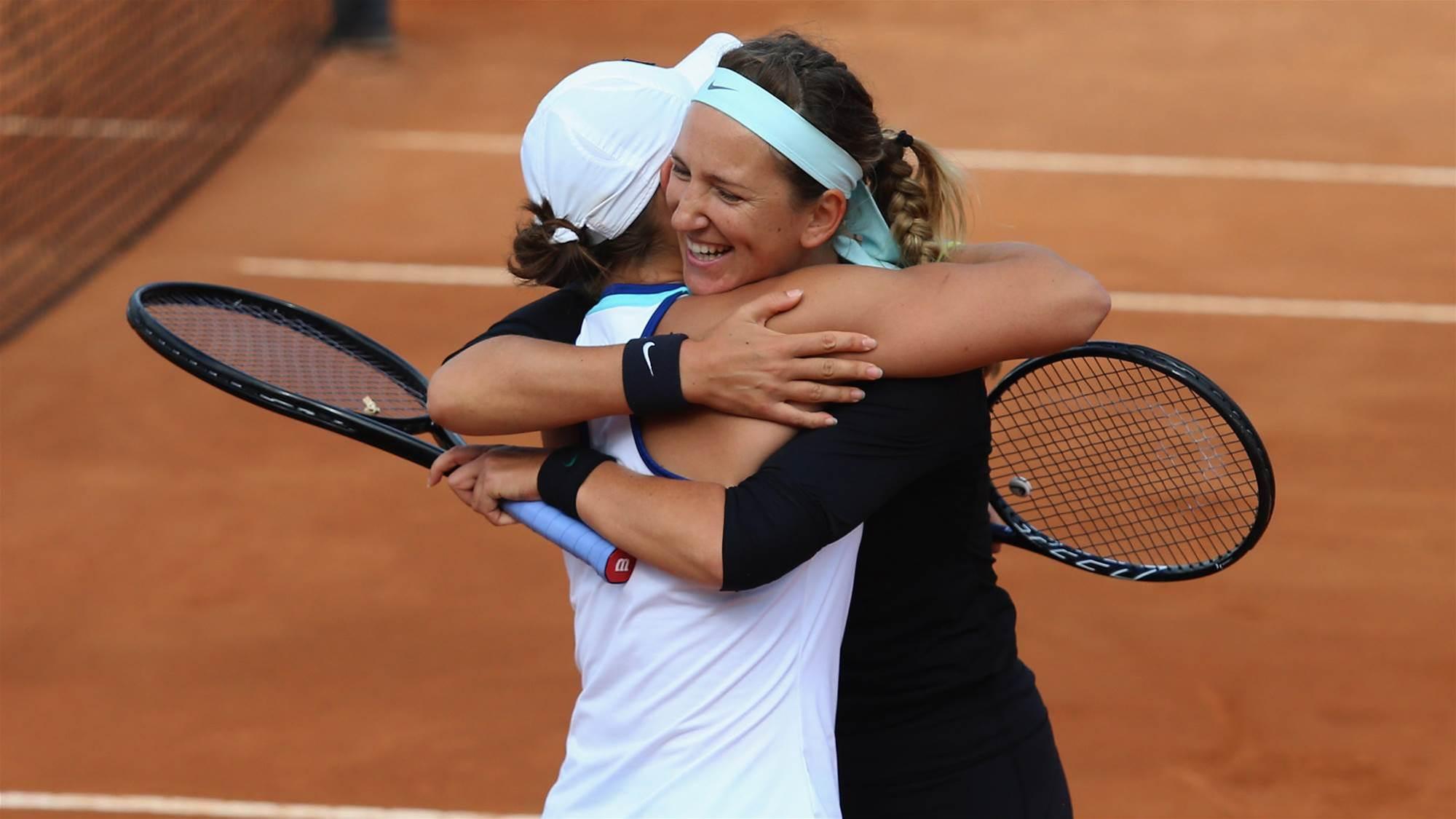 Barty and Azarenka win Rome