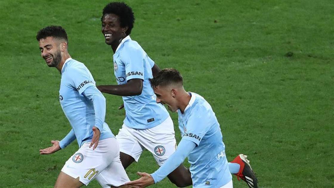 'Chomping at the bit': Melbourne City's kids smash Mariners