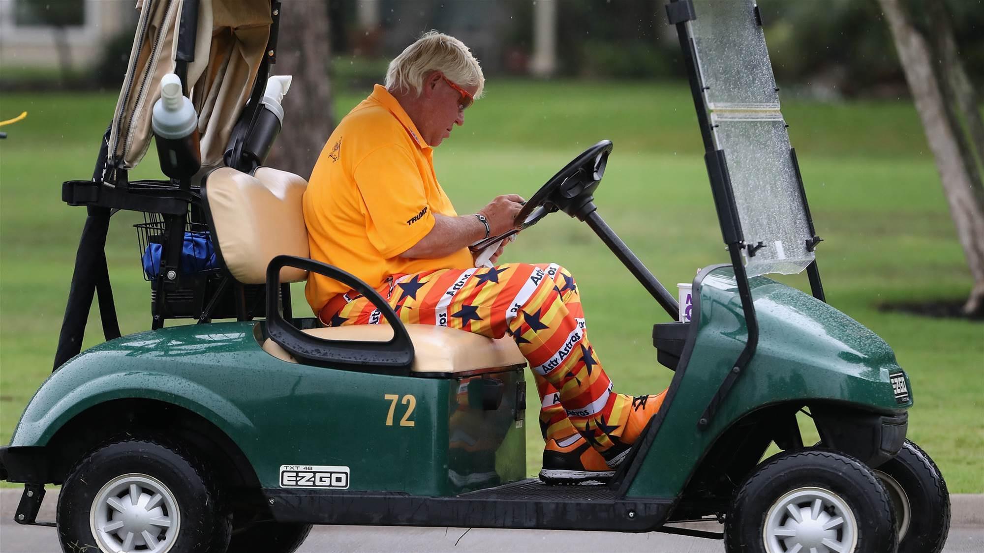 Cart for Daly at US PGA Championship