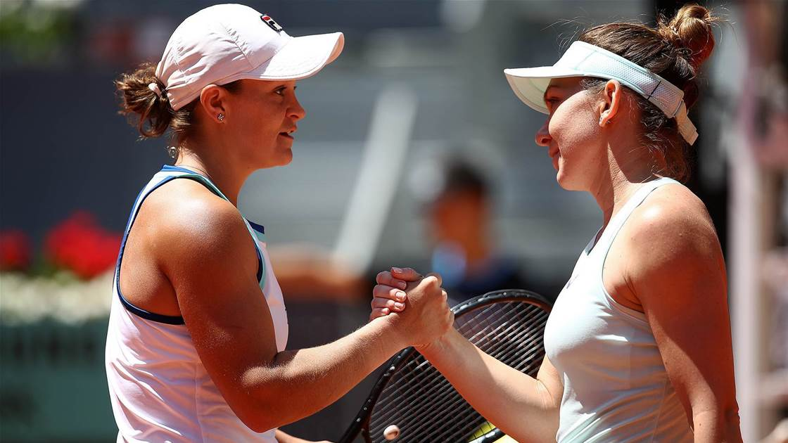 Halep ends Barty's winning run