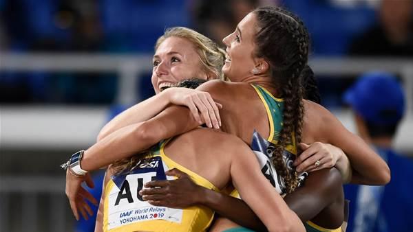 Australian women set fastest time in 4x100m since 2000