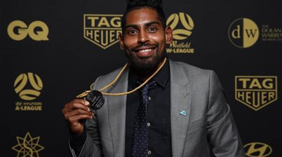 Krishna honoured with Johnny Warren Medal