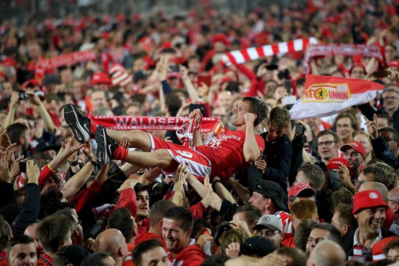 Watch! Union Berlin fans storm field after winning Bundesliga promotion