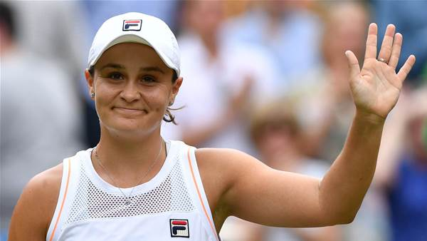Barty marches on to last 16