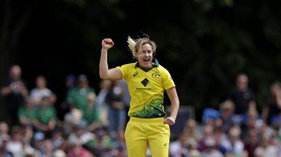 Perry breaks record as Australia smash England